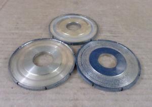 Lot-of-3-Norton-C3B240-WMN-1-8-12000S-Max-RPM-CBN-Center-Wheels