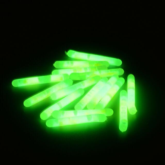 50PCS Fishing Fluorescent Lightstick Light Night Float Clip On Dark Glow Stick