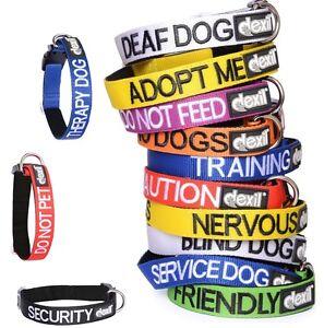 Fuerte-como-Cuero-Color-Codificado-S-M-XL-Collar-O-Plomo-Por-Friendly-Collares-de-perros