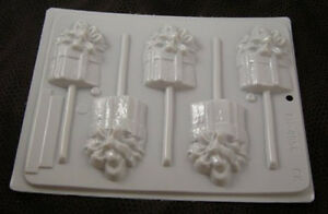 HARD CANDY CHRISTMAS PACKAGES SUCKER MOLD  HS-4956