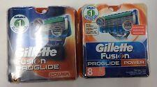 Gillette FUSION PROGLIDE * POWER Razor Blade (2 PACK X 8 Cartridges) USA