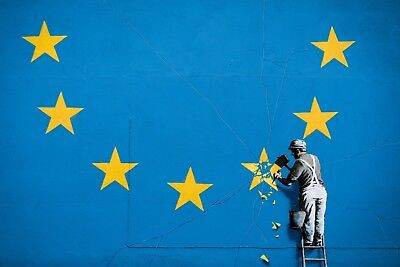 A1 Home Wall Print Street Art BANKSY Poster A4 UK EU BREXIT A2 A3