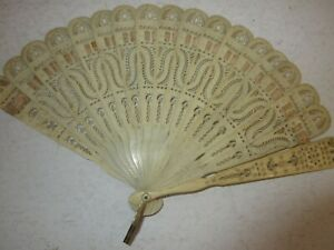 Fan-Antique-19e-Antique-Height-17-CM