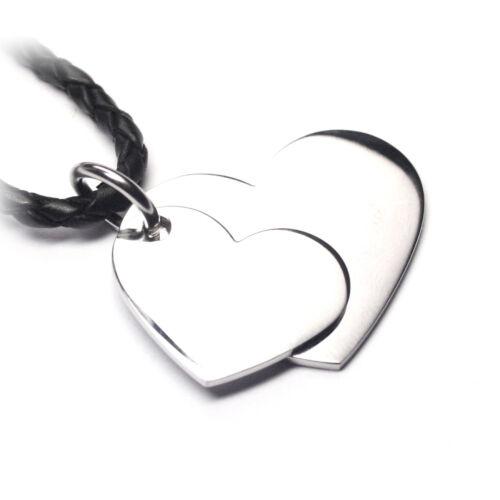 HA0 mit Ihrer  Wunschgravur Edelstahl individuelle Gravur - Herzanhänger