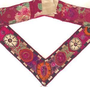 Antike Usbeki Suzani Embroidered Deko Band Sammler Stickerei Antique Deco Band