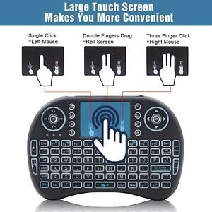 i8 2.4Ghz Mini Wireless Keyboard Backlit Controls Touchpad for Android TV PC
