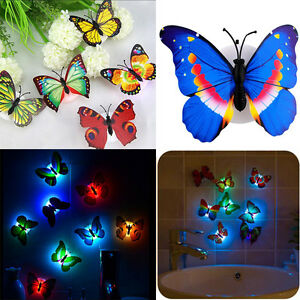 Butterfly-LED-Night-Light-Colorful-Changing-Wall-Lamp-Kids-Bedroom-Party-Decor