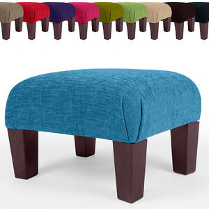 Image Is Loading New Footstool Foot Rest Small Large Pouffe Fabric