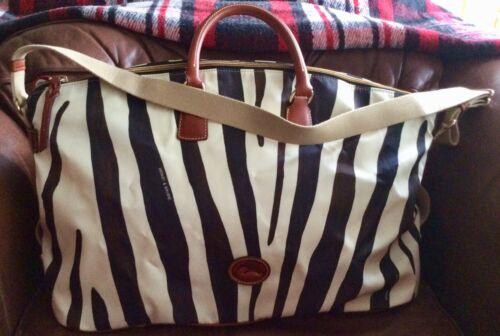 Dooney & Bourke Nylon Zebra Print Duffel Preowned