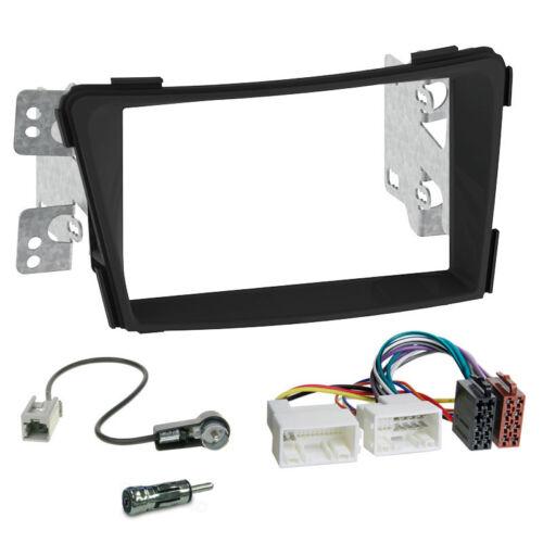Autoradio Einbauset 2-DIN Hyundai i40 ab 11 Kabel Einbaurahmen schwarz