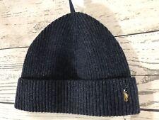 item 4 Polo Ralph Lauren Mens Blue 100% Wool Knit Ribbed Beanie Hat One  Size NWT 2 -Polo Ralph Lauren Mens Blue 100% Wool Knit Ribbed Beanie Hat  One Size ... eb8ef378382b