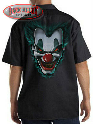 FREAKSHOW Insane Clown Mechanics Work Shirt Biker M-3XL Nightmare Posse SCARY