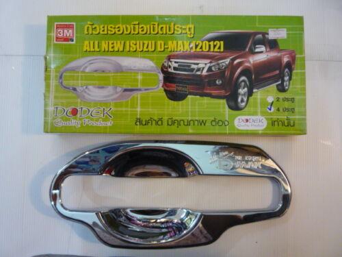 CHROME 4 DOOR HANDLE BOWL INSERT COVER FOR ALL NEW ISUZU D-MAX D-MAX 2012-14 V.2