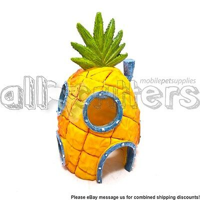 Spongebob Pineapple Swim-thru (Large) House Fish Tank Ornament by Penn plax