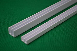 90cm White 4mm Pvc Glass Track Runners Fit 3ft Vivarium