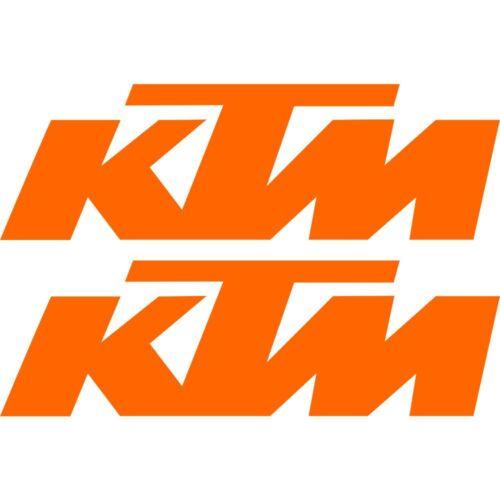 2 Stickers Autocollant KTM Ktm Orange Ktm04