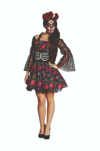 Dia de Muertos 34-44 Gr Halloween Damen Kostüm Rubies 13907 La Catrina