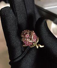 Heidi Daus Climbing Rose Ring with Pink Crystals Size 6