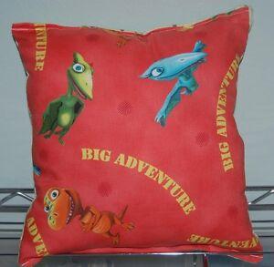 Dino-Train-Pillow-HANDMADE-Dinosaur-Adventure-Pillow-PBS-Kids-Pillow-Made-in-USA