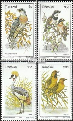Unmounted Mint Never Hinged 1980 Birds complete.issue. Transkei 75-78