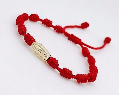 revisa cc8fa 84fc5 Pulsera Roja Con Virgen De Guadalupe 7 Nudos A Los Lados ajustable | eBay
