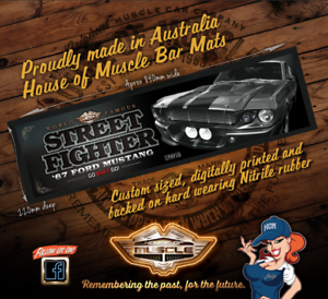 1967 FORD MUSTANG WORLD FAMOUS STREET FIGHTER BAR MAT GONE IN 60 SECONDS