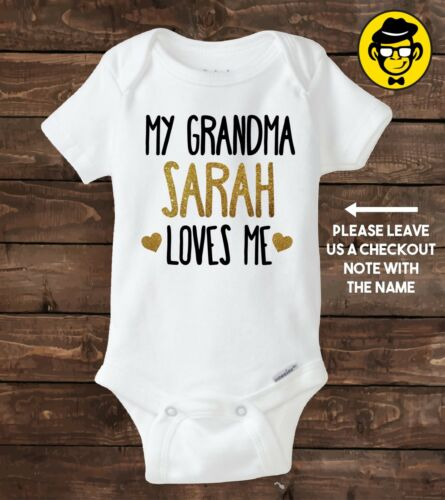 My grandma CUSTOM NAME Funny bodysuit loves me Custom Bodysuit