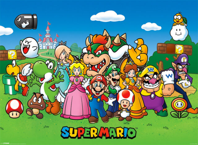 Official Super Mario Characters Poster 91 5 X 61cm Luigi Toad