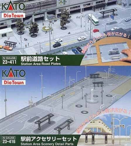 Kato 23-411 23-416 Station Area Roads Set (N scale)