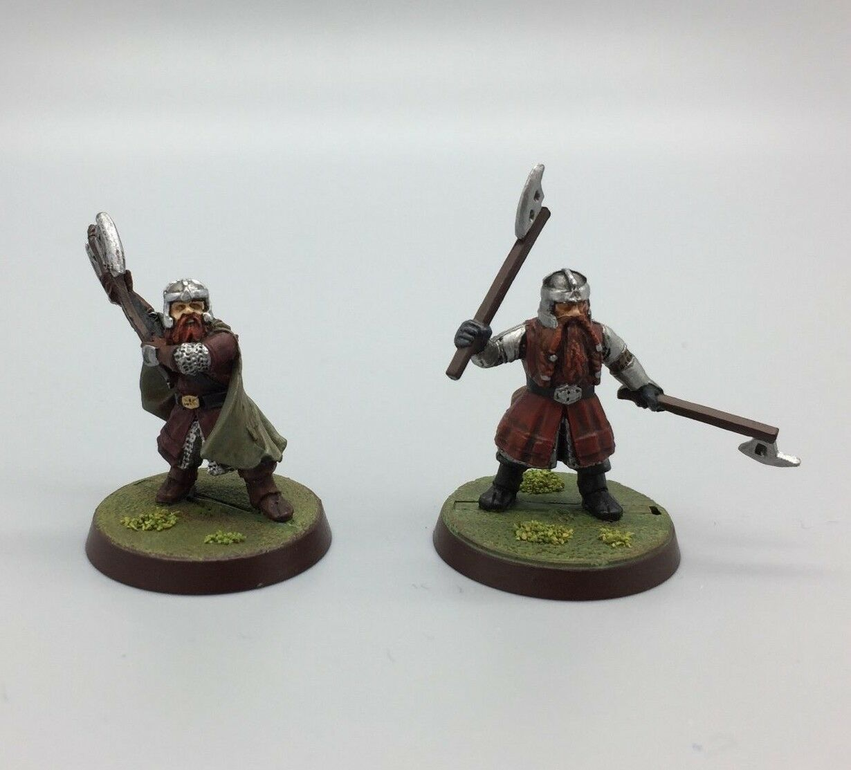 WARHAMMER LORD OF THE RINGS LOTR THE HOBBIT DWARF GIMLI X 2 PAINTED