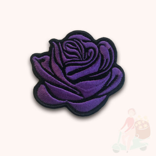 Belle rose pourpre Dame Vêtements Veste Chemise Iron On Sew On Embroidered Patch