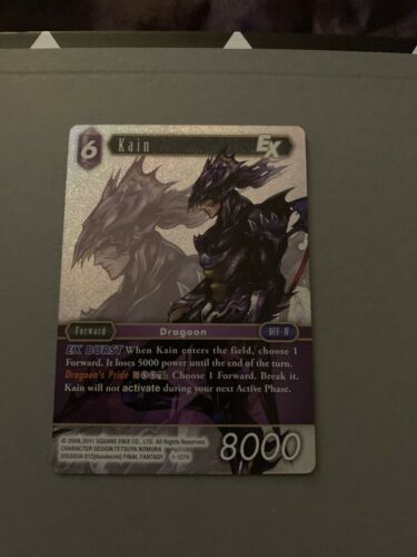 Final Fantasy OPUS TCG Trading Card 1127H KAIN HERO FOIL