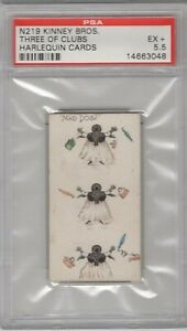 1888-N219-Kinney-Bros-Harlequin-Cards-Three-of-Clubs-Graded-PSA-5-5