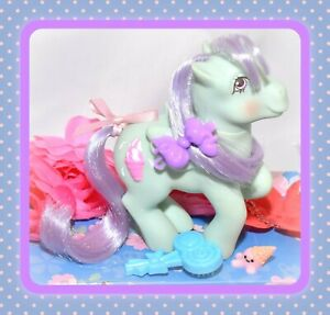 My-Little-Pony-G1-Vtg-Peppermint-Crunch-Sundae-Best-Lollipop-BRUSH-Pegasus