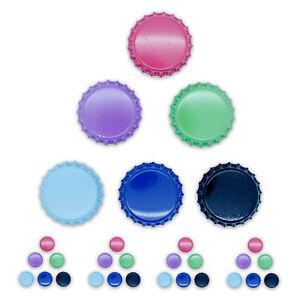 Magnete-Kuehlschrankmagnete-Notizhalter-magnetisch-Edelstahl-bunt-5-x-6er-SET