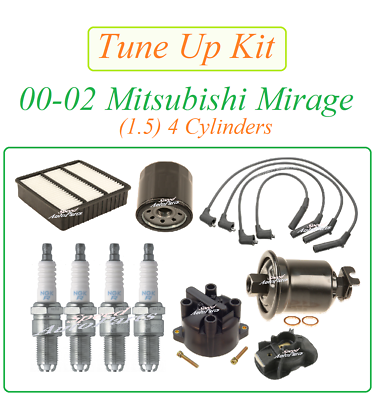 Tune Up Kit Cabin Air Oil Filters Plugs Wire for Mitsubishi Outlander 2.4L 2003