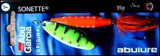 RARE ABU GARCIA SONETTE spinner 35 g (1 - 1/4 oz) YE/BL colour (dressed treble!)