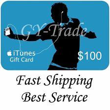 Apple iTunes $100 US Gift Card Carte Code Voucher Certificate USA USD iTune FAST
