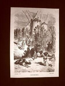 Incisione-di-Gustave-Dore-del-1874-I-Cardi-della-Mancia-Spagna