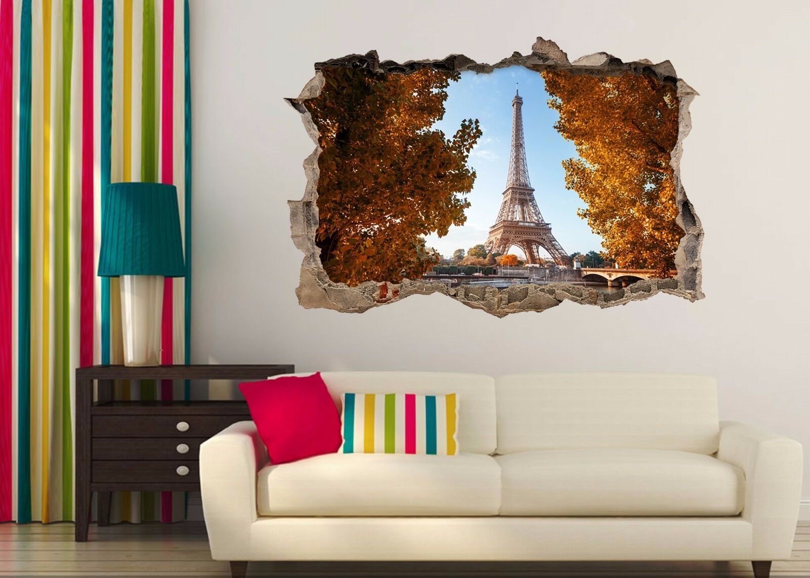 3D Parigi Torre Eiffel Parete Murales Adesivi Decal Sfondamento AJ WALLPAPER IT