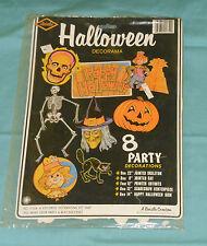 vintage Beistle HALLOWEEN DECORAMA new/sealed skeleton scarecrow cat witch