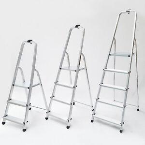 aluleiter klappleiter 3 4 5 stufen 125kg sprossen stehleiter haushaltsleiter ebay. Black Bedroom Furniture Sets. Home Design Ideas