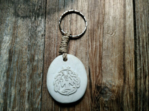 Keltisch Waldgott Magie Celtic Cernunnos Schlüsselanhänger aus Stein