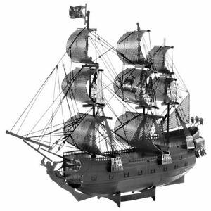 Metal Earth ICONX Black Pearl Ship (black) 3d Model Kit