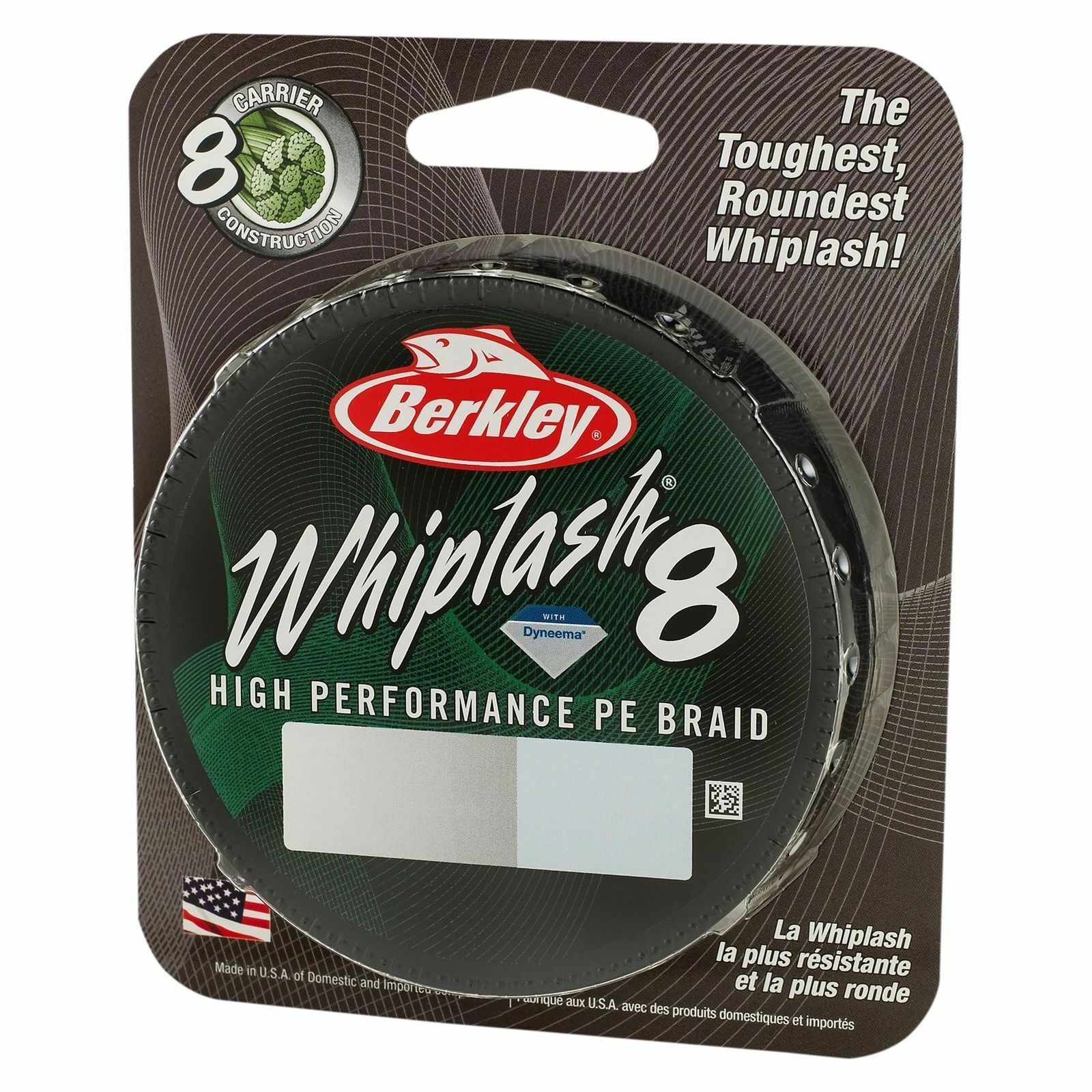 Berkley Whiplash 8 Carrier Braid 300m Spool Green or Yellow Available Many Sizes