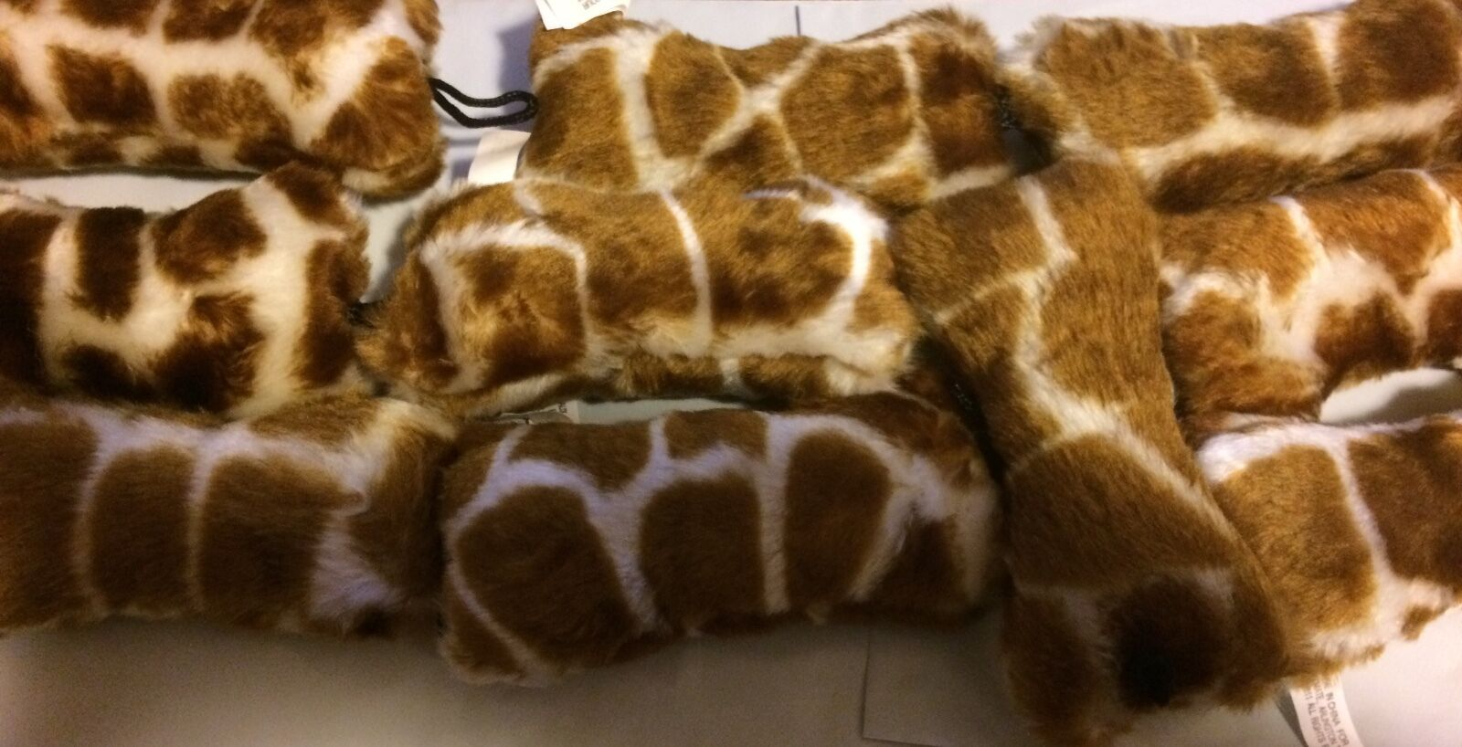 Lot Of 50 - Booda Skins 5   Weich Giraffe Knochen Queitscher Hund Spielzeug in  | Primäre Qualität