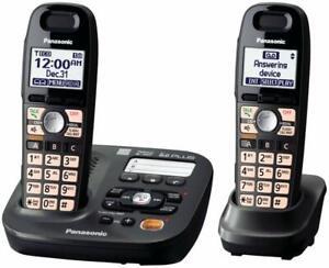 Panasonic-KX-TG6592T-DECT-Cordless-Amplified-Phone-Answering-Machine-2-Handsets