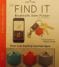 XY FIND IT BLUETOOTH ITEM FINDER 3RD GEN. TRACKER 5 TIMES LOUDER!   3 PAK