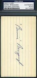 Benny-Bengough-Psa-Dna-1927-Yankees-Autograph-3x5-Signed-Index-Card