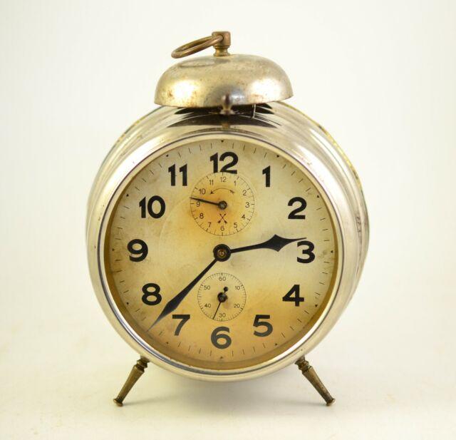 Antique 1920s MECHANICAL Alarm clock Germany Vintage old ...